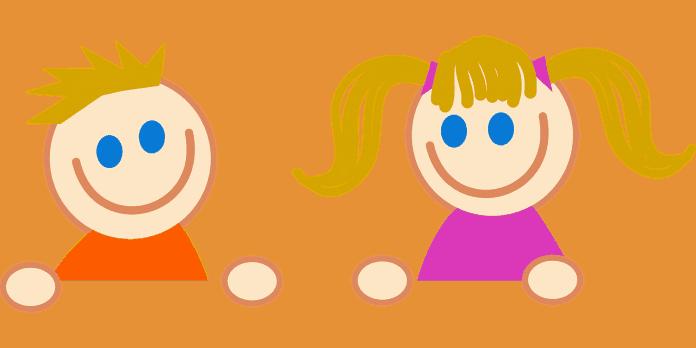 Junge Cartoon Kinder Comic Weiblich Mädchen