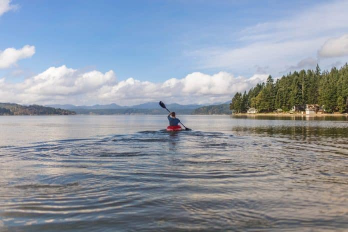Kanu See Abenteuer Kajak Im Freien Sport Paddel