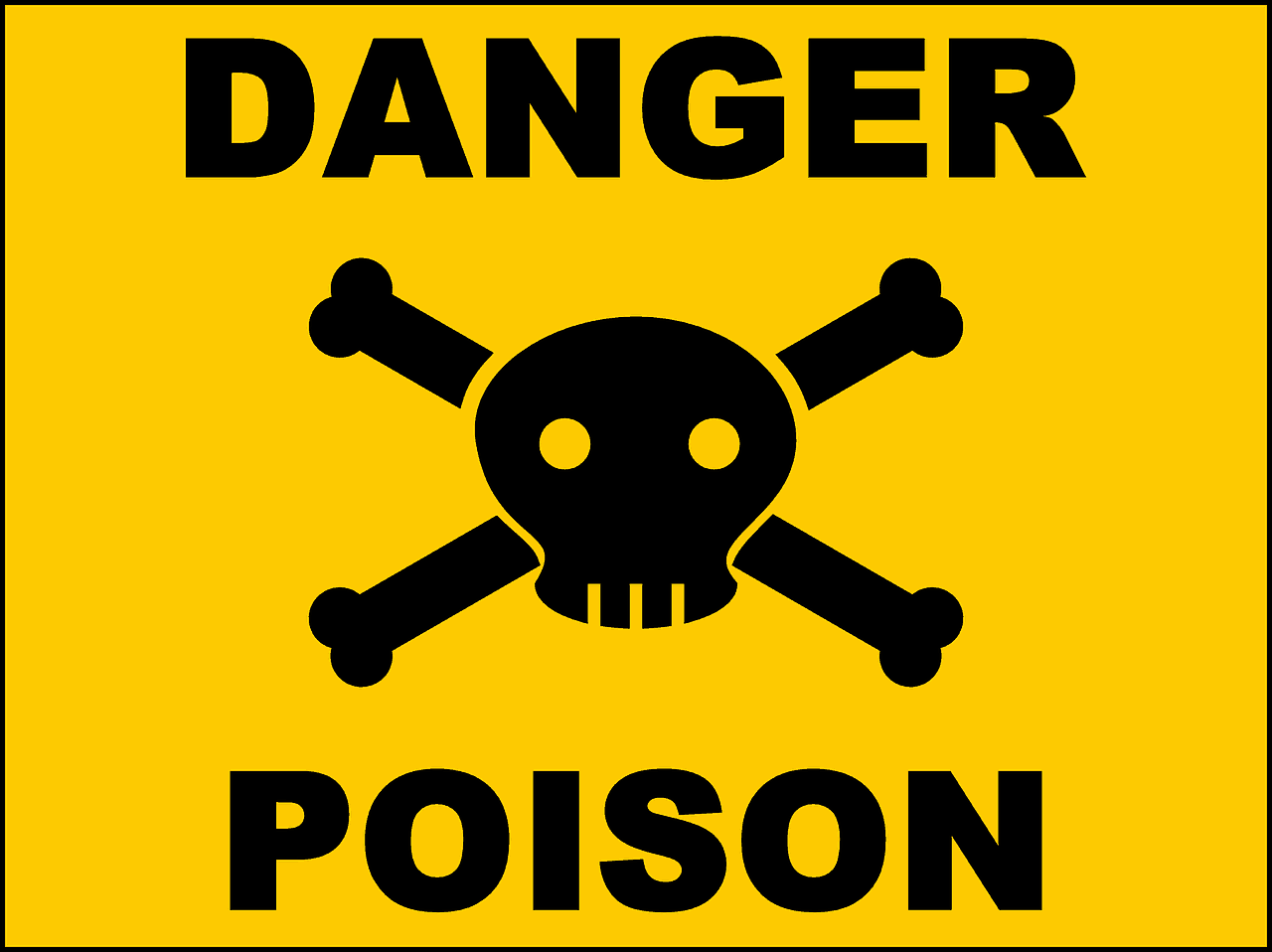 Gefahr Gift Schädel