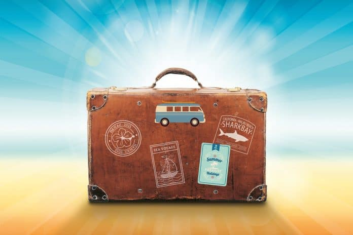 Koffer Urlaub Reise Sommer Meer Sonne Erholung