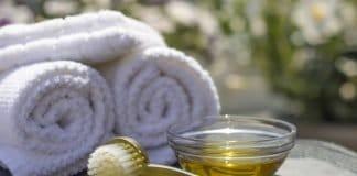Spa Salon Resort Öl Massage Pinsel Freude Körper