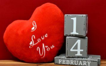 Valentinstag 14 Februar Liebe Grußkarte Datum