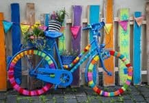 Rad Fahrrad Radfahren Radsport Farben Bunt Häkeln