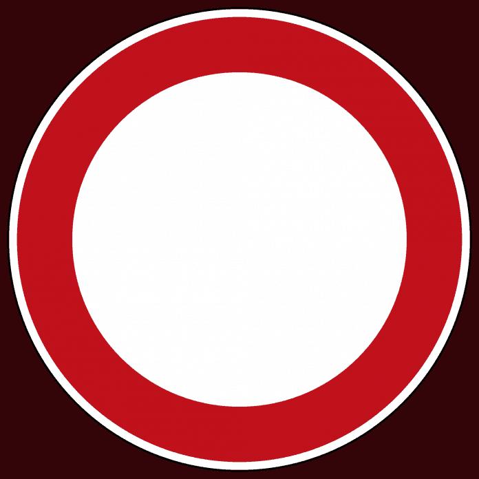 Verbot für Fahrzeuge aller Art Alle Vorschriftzeichen mit rotem Rand bedeuten generell ein Verbot. Im allgemeinen Sprachgebrauch hat sich für dieses Schild der Begriff