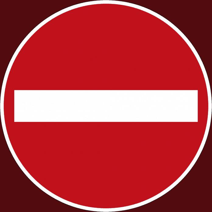 """Verbot der Einfahrt Diese Straße darf nur in der Gegenfahrtrichtung befahren werden. Viele Kommunen geben allerdings mittlerweile Einbahnstraßen für Radler frei. Unter dem roten Verbotsschild für Autos hängt dann das Symbol """"Radfahrer frei""""."""