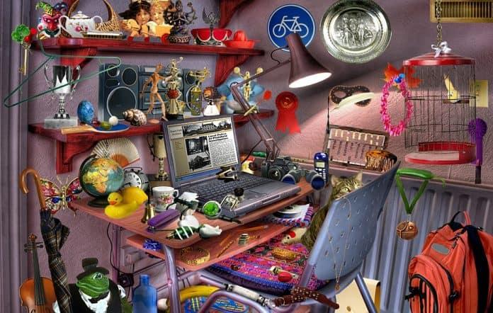 Computer Zimmer Schreibtisch Spielzeug Spiel