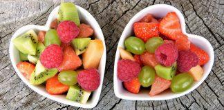 Obst Früchte Obstsalat Frisch Bio Gesund Herz