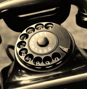 Telefon Alt Baujahr 1955 Bakelit Post Wählscheibe