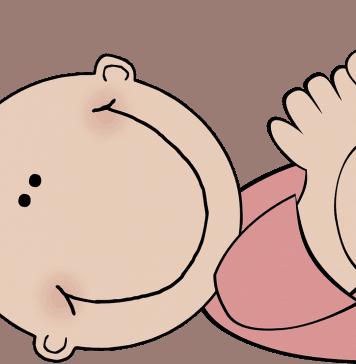 Baby Mädchen Karikaturen Rosa Neues Baby