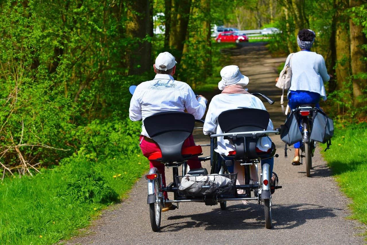 Doppel-Rider Dreirad Dreirad Zyklus Radfahren