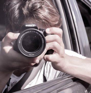 Selfie Über Uns Auto Schuss Uns Telefon