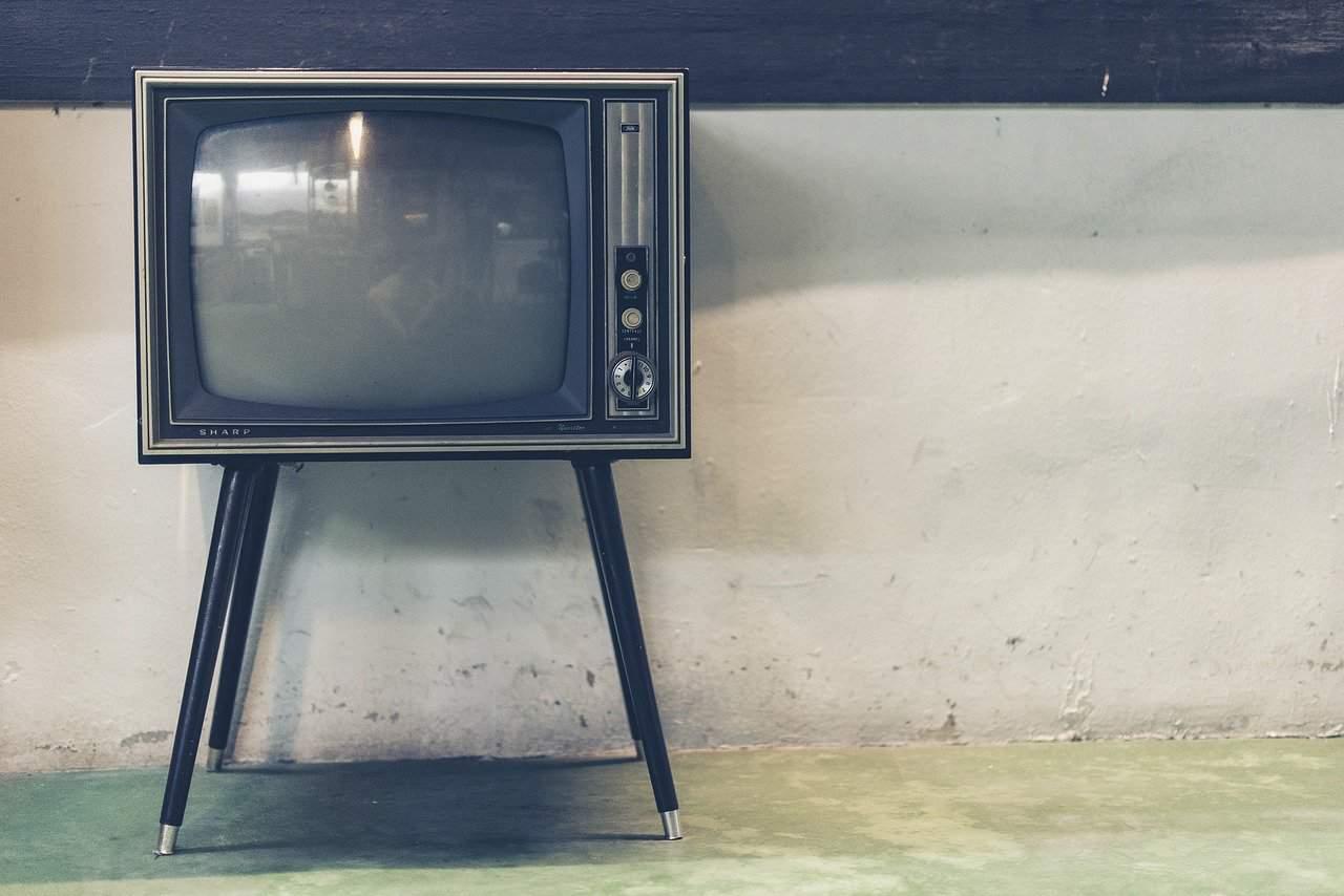 Scharf Fernsehen Tv Jahrgang Wand