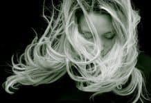 Schöne Frau Haar Blond Langes Haar Porträt