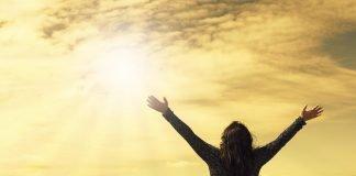 Himmel Sie Bitten Gott Gebet Offene Arme Lob