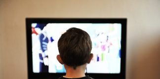 Kinder Tv Fernsehen Home Menschen Junge Familie