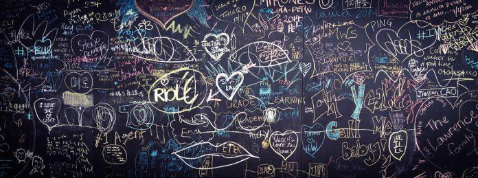 graffiti tafel liebe hand gezeichnet valentine