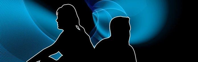 banner header silhouette mann frau beziehung