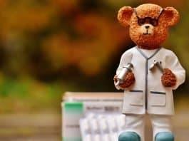 Bär Beruf Arzt Figur Niedlich Süß Drollig