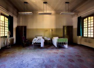 Krankenhaus Zimmer Innerhalb Drinnen Innenraum