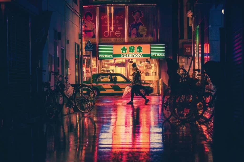 japan osaka nacht asien wahrzeichen reisen