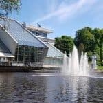 Kanal mit dem Boot in Riga Lettland