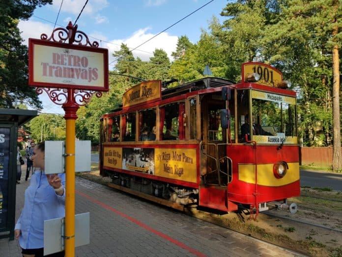 Eisenbahn für Touristen in Riga Lettland