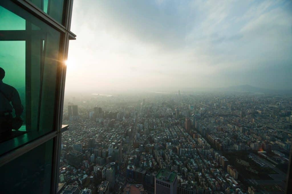 Blick vom Taipei 101 Taipeh Tourismusbüro – www.taiwantourismus.de Taiwan, Taipei,