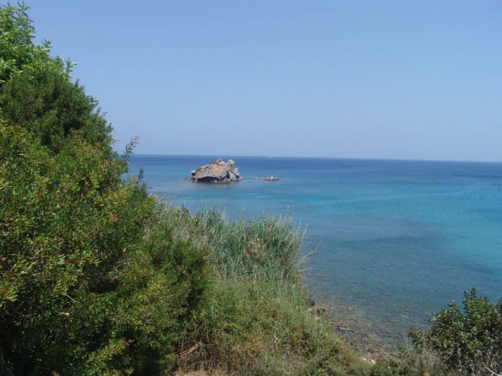 Insel im Meer auf Zypern