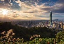 Gebäude Taiwan Taipei 101 Stadt Stadtbild Wolken