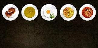 Kochen Lebensmittel Teller Geschirr Gerichte