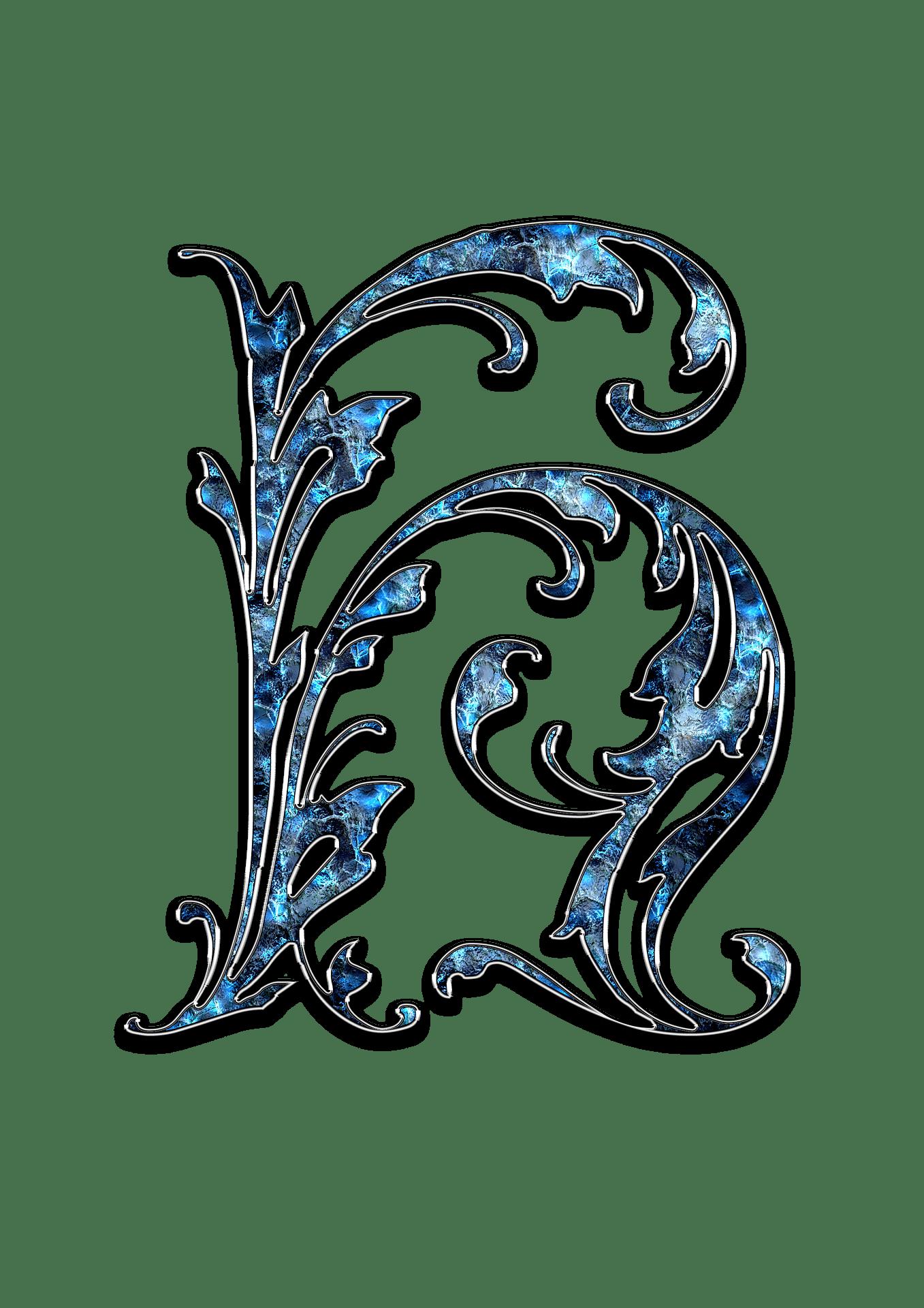 Letter Letter H H Initials Schreiben Schriftart