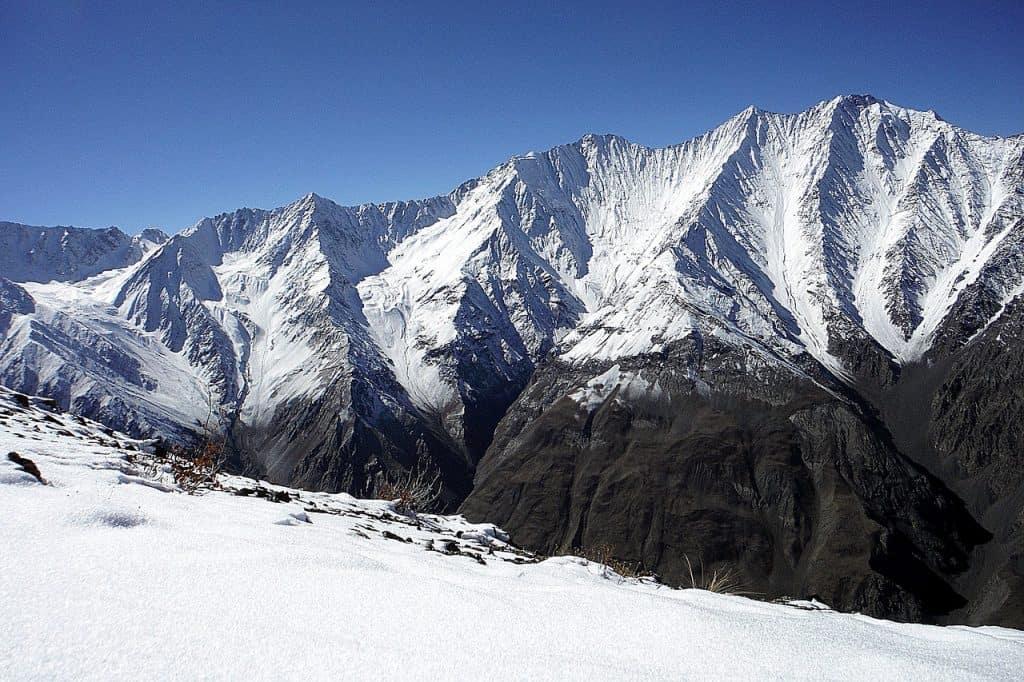 Pamir Bartang Berge Schnee Himmel Top Landschaft