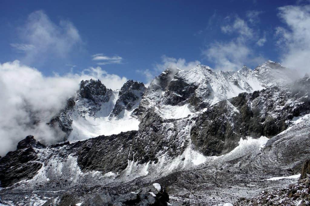 Pamir Tadschikistan Landschaft Berge Schnee Natur