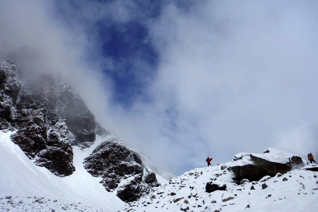 Pamir Tadschikistan Landschaft Berge Wolken