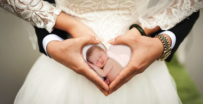 Herz Familie Baby Kind