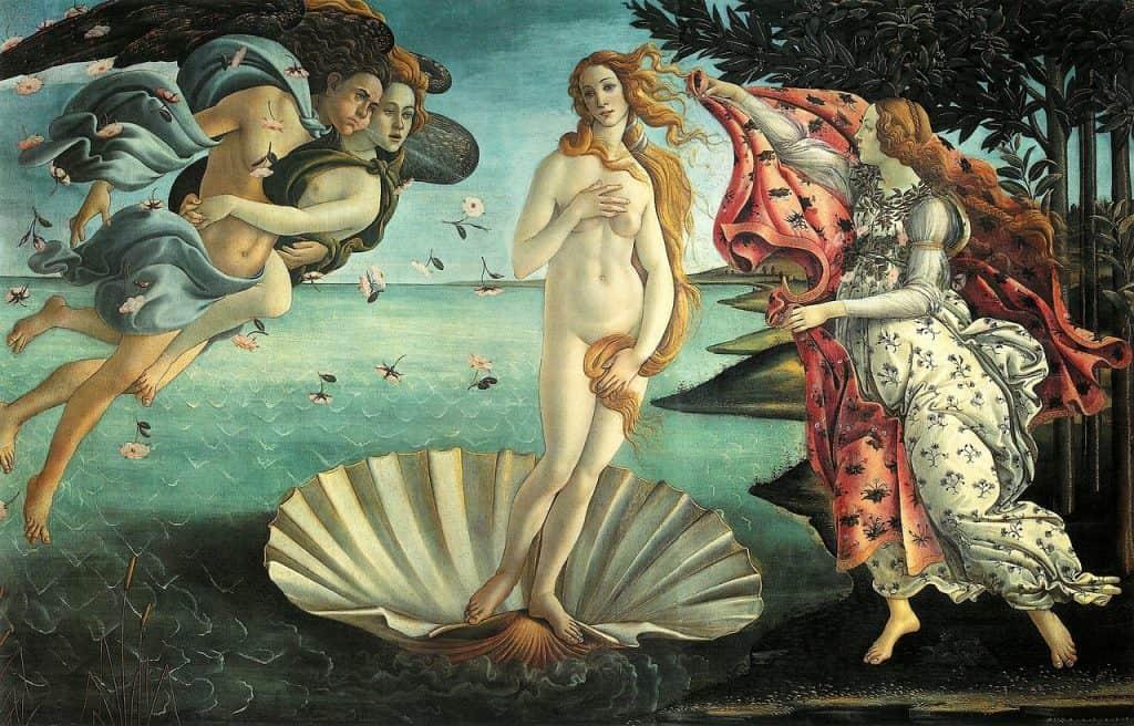 gemälde la nascita di venere botticelli