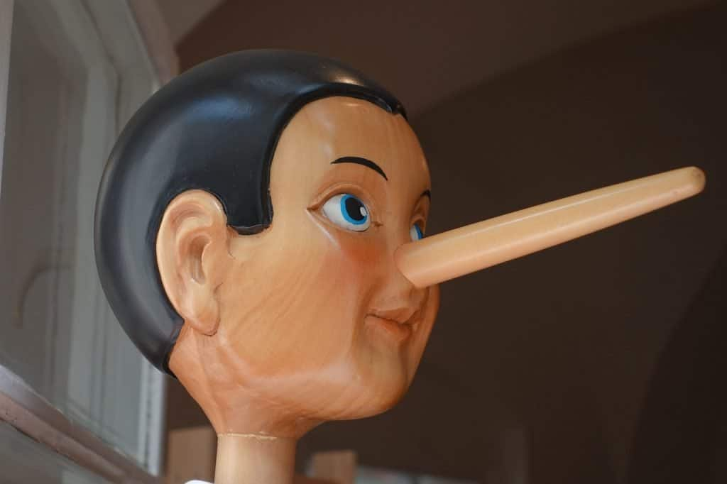 Pinocchio Nose Lying Nose Long Lie Fairy Tales