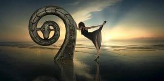 Fantasy Gegenlicht Tanz Meer Frau Strand Sonne