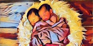 Zwillinge Jungen Babys Säuglinge Neugeborene
