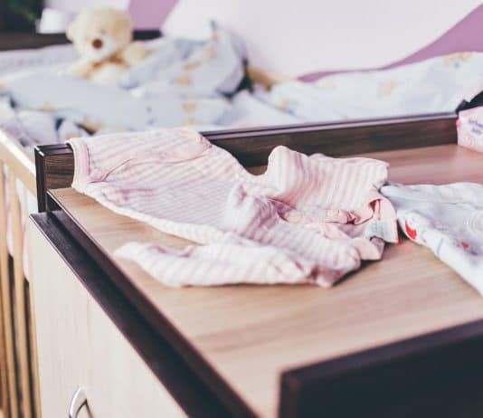 Baby Bär Bett Blau Ändern Kinder Kleidung Krippe