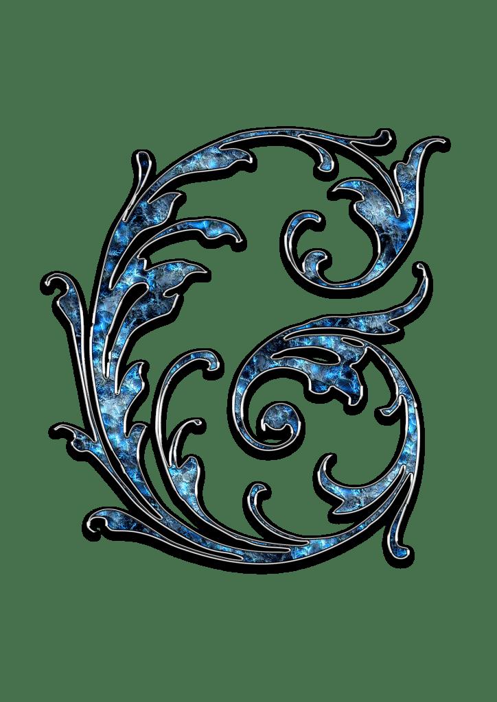 Letter Letter G G Initials Schreiben Schriftart