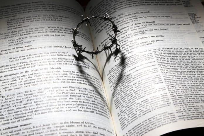 Liebe Gestorben Kreuz Dornen Krone Herz Bibel