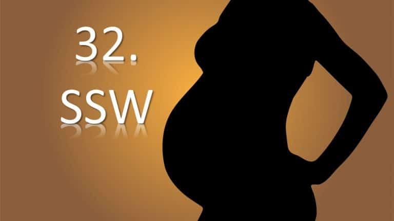 32. SSW – 32. Schwangerschaftswoche