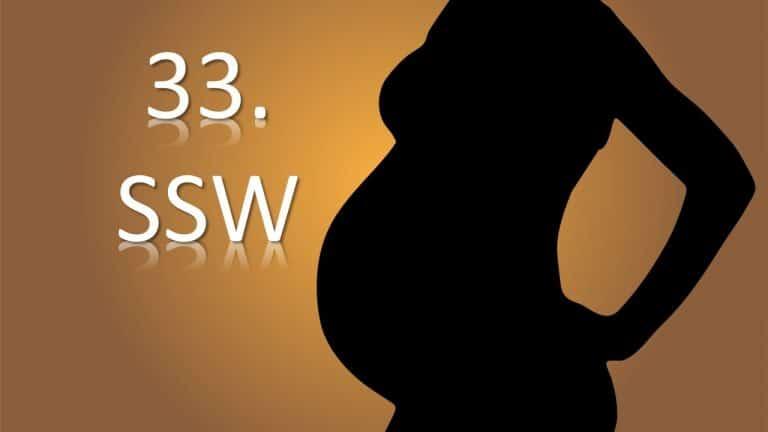 33. SSW – 33. Schwangerschaftswoche
