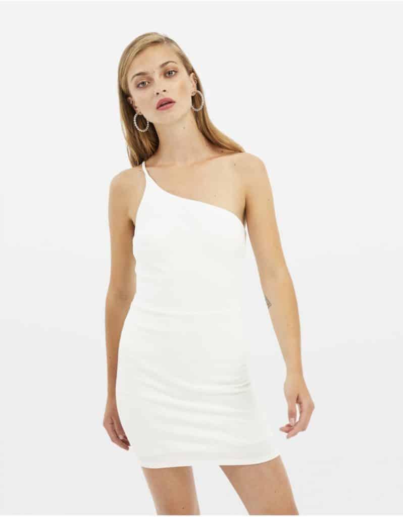 Weißes, asymmetrisches Kleid von tally-weij