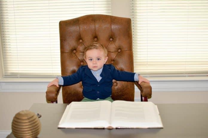 Junge Kleinkind Geschäftsführer Kinder Kind