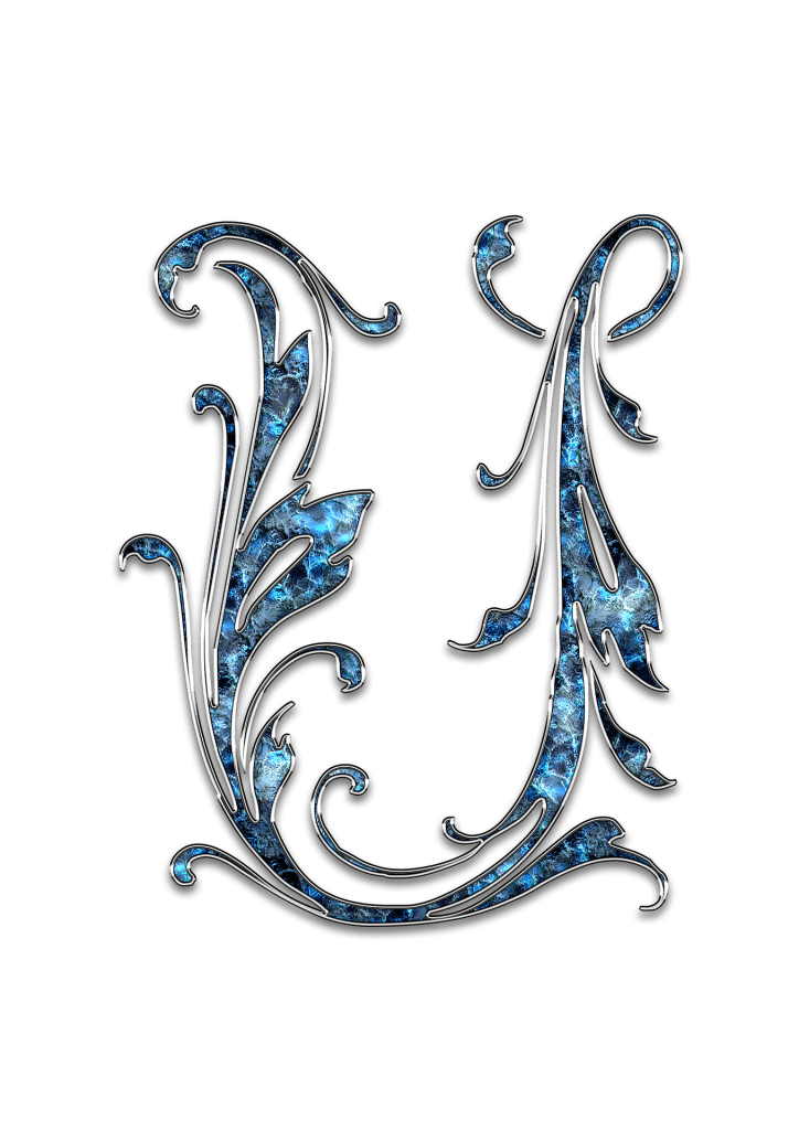 Letter Letter U U Initials Schreiben Schriftart