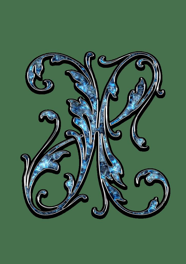 Letter Letter X X Initials Schreiben Schriftart