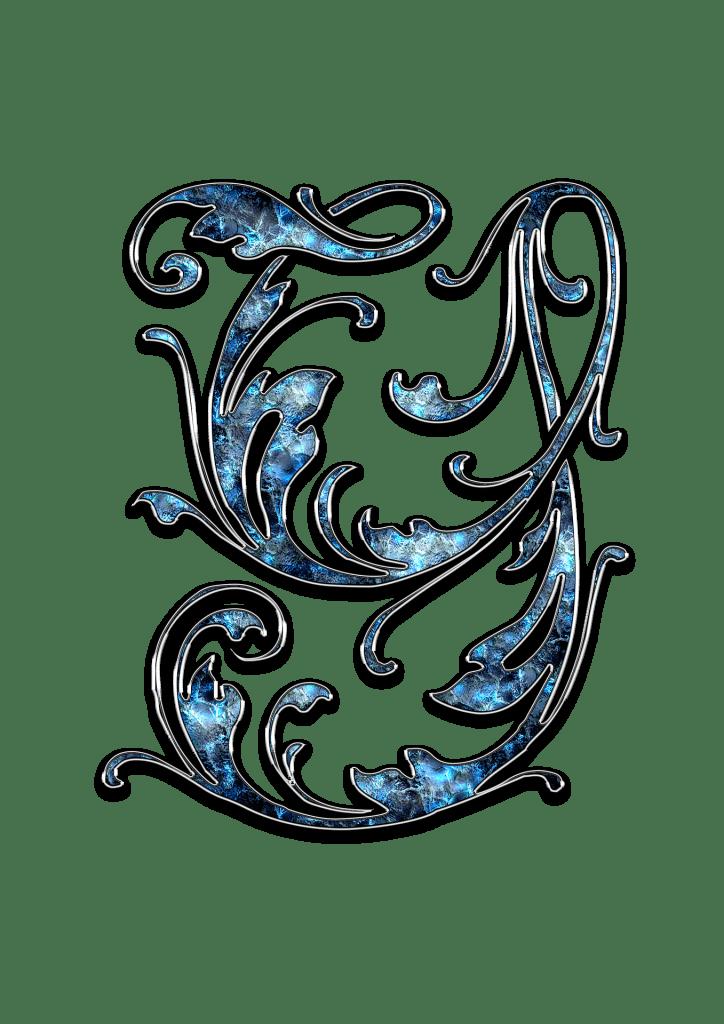 Letter Letter Y Y Initials Schreiben Schriftart