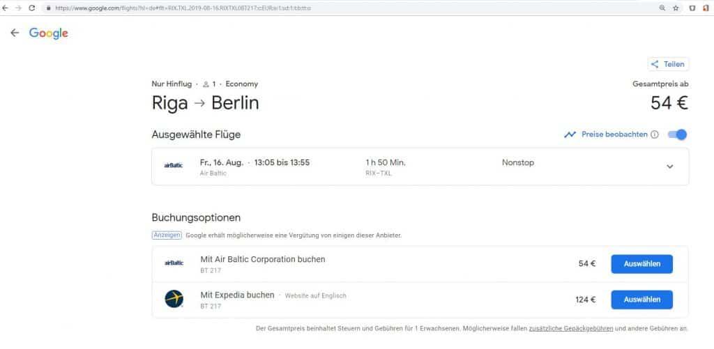 airBaltic und die wundersame Verdopplung der Preise während des Buchens 5